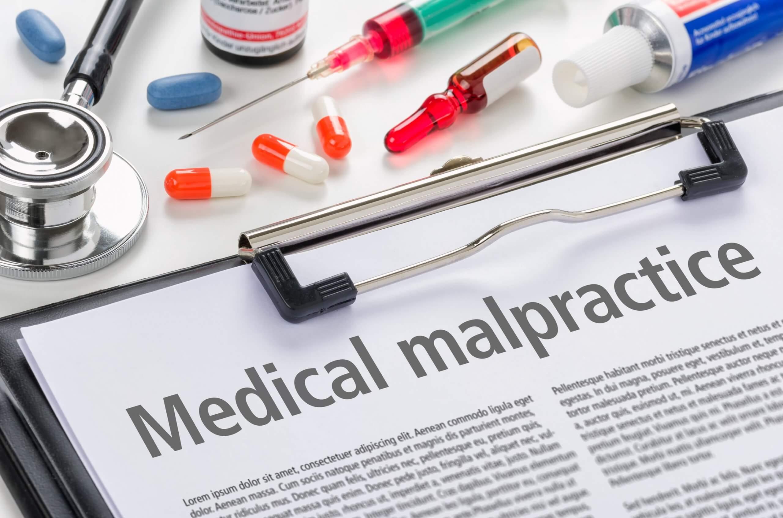 Formularios de negligencia médica.