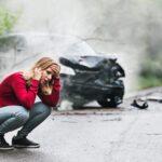 Aftermath of a car crash